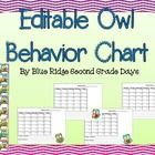 This owl clip behavior chart set is editable, allowing you to be in control of your classroom management system. This set includes: -Two Behavior C...