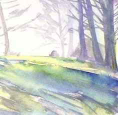 Trinidad Park - Watercolor by Kristen's Paintings