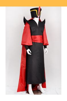Costume Detail Aladdin Jafar Complete Cosplay Costume Includes Hat, Costume Set, Waist Tie, Cape Please see info tabs above for more information and shop. Aladdin Show, Aladdin Cast, Aladdin Musical, Diy Costumes, Costumes For Women, Cosplay Costumes, Party Costumes, Costume Ideas, Cosplay Diy