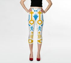 Abstract pattern objects byAlex Zel Capris $55.00