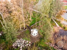Summer gazebo from above. Custom Woodworking, Finland, Stepping Stones, Gazebo, Country Roads, Outdoor Decor, Summer, Design, Stair Risers
