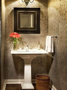 Tiny Half Bath Makeover Best Tiny Half Bath And Half Baths Ideas - Bathroom basket ideas for small bathroom ideas