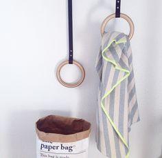 DIY: Leather Strap Towel Hangers