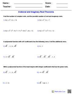 Factoring Special Case Polynomials Worksheets | Tutoring ...