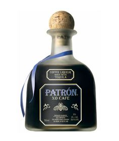 Patron XO Coffee Liqueur  Smooth, dry tequila meets toasty, roasted coffee in this brilliant not-too-sweet version of the barroom mixer.