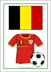Football World Cup kits and flags posters (SB10528) - SparkleBox