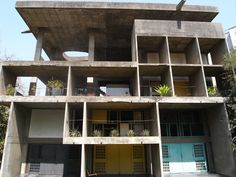 """Le Corbusier's """"Villa Shodhan"""". This design is a clear example of program being the sole informer of the structure."""