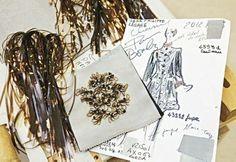 Teaser of embriodery materials al Maison Lesage (part of Métiers d'Art de Chanel)