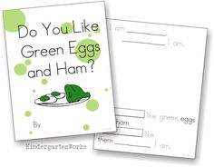 Green Eggs and Ham class book {Printable} - KindergartenWorks
