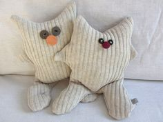 #upcycled sweater soft toys - little monsters