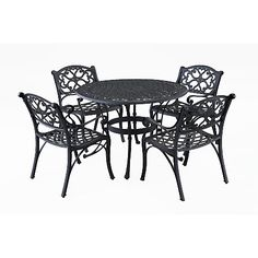 Home Styles 5-piece Outdoor Dining Set - Black