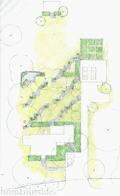 """Patterns"" landscape design scheme is playful and eccentric; Home Outside: personalized online landscape design service"