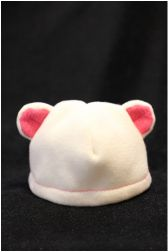 bear hat with ears - fleece - pattern and directions; With long red dog ears... for Josh's Clifford costume