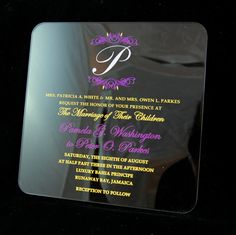 1000 Images About Acrylic Invitations On Pinterest