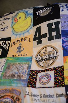 DIY T-Shirt Quilt... I already have 11 years of DJs favorite t-shirts saved for this project!!