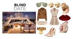 """Blind date on a yacht"" by julietv416 ❤ liked on Polyvore featuring Elite, Hermès, Rupert Sanderson, Chanel, Eddie Borgo, mens, men, men's wear, mens wear and male"