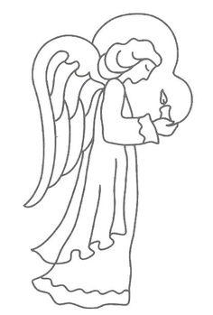 angel printable   Free Printable Angel Patterns and Angel Symbols