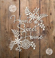 SVG / PDF Home Sweet Home Design  by TommyandTillyDesign on Etsy