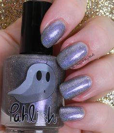 Pahlish Sugar Plum Marshmallow | Be Happy And Buy Polish http://behappyandbuypolish.com/2014/11/28/pahlish-happy-holoween-collection-swatches-review/