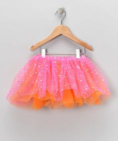Take a look at this Hot Pink & Orange Glitter Tutu - Girls by Pochew by Posh on #zulily today!