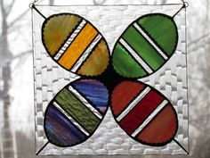 Easter Eggs Panel from Delphi Artist Gallery by Stained Glass Country House
