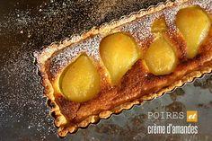 Tarte bourdaloue la recette du Chef Simon à base de poires et crème d'amande
