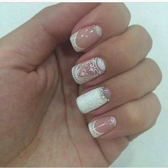 today we are here sharing and talking about the lace nail art ideas. Lace Nail Design, Lace Nail Art, Lace Nails, Nail Art Designs, Glitter Gel Nails, Nail Manicure, Sparkle Nails, French Nails, Henna Nails
