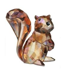 Swarovski Crystal Figurines | Swarovski Crystal Figurines for Autumn: Squirrel and Pine Cone