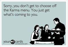 No choice on the Karma menu.