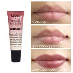 NYX mood lip gloss in Sensual...actually does look like this, but maybe a little glossier. Perfect for fall. New obsession.