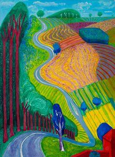 David Hockney, Going Up Garrowby Hill 2000, Private Collection © David Hockney