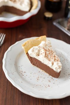 Chocolate Stout Cream Pie, served | Striped Spatula