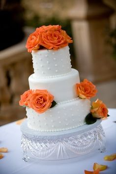Wedding cake idea (if you don't have enough orange roses in your wedding)