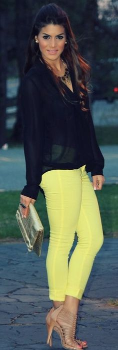 black and neon ♥✤ | Keep the Glamour | BeStayBeautiful