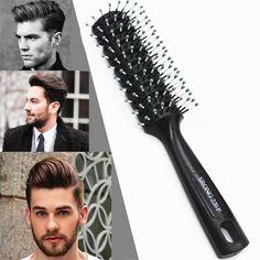 Gentle Men Hair Brush Tangle Wet Dry for Fashion Hair Brush Bristles Men Hair Brush A4 #Affiliate