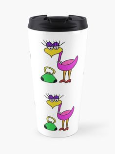 Paulette Bird is a female cartoon character who is apart of the Paulus Bird Series. In this image she is out shopping. | Design By Paul Corps | Pultzar.redbubble.com