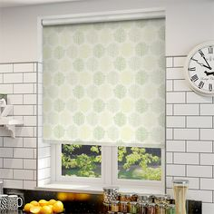 Choices Sprigs Park Green Roller Blind from Blinds 2go