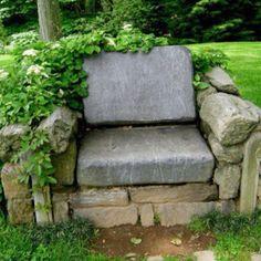 garden stone throne