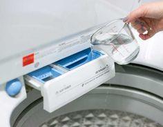 Além de lavar roupa com vinagre, você pode utilizar esse produto para limpar sua máquina de lavar também