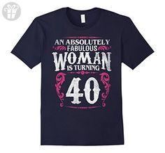 Men's 40th Birthday Gift Shirt Fabulous Woman is Turning to 40 Tee 3XL Navy - Birthday shirts (*Amazon Partner-Link)