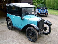 1930 Austin Seven Type A? Tourer but what is that over the back? by Austin7nut, via Flickr
