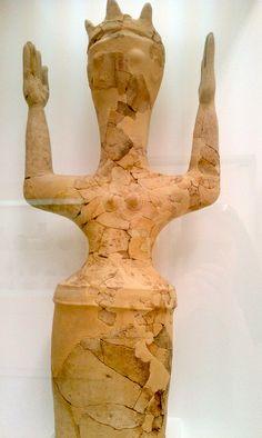 Late Minoan IIIC Clay goddess. photo by kiminoa