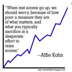 When test scores go up...