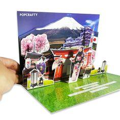 Travel pop up card by popcrafty