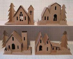 Image result for glitter houses christmas village