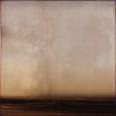 Dan Gualdoni, Coastal Redux #99 2011, Oil, printer's ink, glue medium on panel