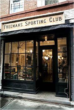 Retail-Menswear-Freemans Sporting Club - New York Times Potpourri, Shop Facade, Men Store, Cafe Shop, Shop Fronts, Environmental Design, Shop Window Displays, Trendy Clothes For Women, Store Design