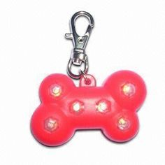 Flashing Star-shaped ID Tag with Excellent Design, Made of PS, CR1225 and PVC Materials