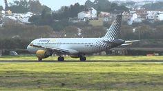Vueling Airbus 320 EC-MBD Take Off Malaga LEMG