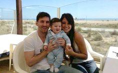 Messi posó con Thiago | Foto: FACEBOOK